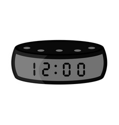 isolated digital wristwatch icon vector image