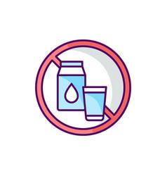 Lactose intolerance rgb color icon vector