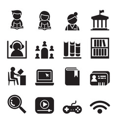 Library icon symbol set vector