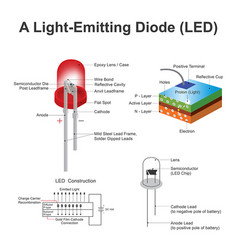 Light emitting diode led structure education vector