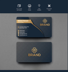 Luxury ornamental business cards template vector