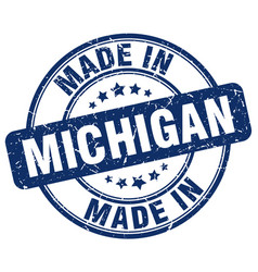 made in michigan vector image