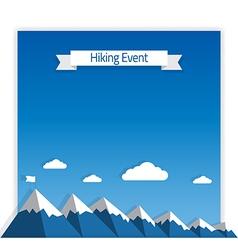 Mountaineering Event vector