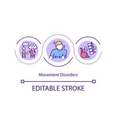 movement disorders concept icon vector image
