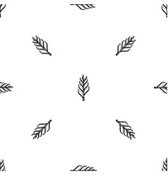 One spica pattern seamless black vector