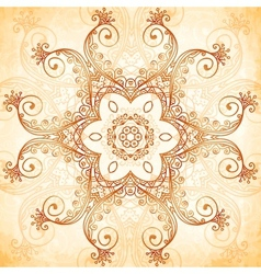 Ornate vintage pattern in mehndi style vector image