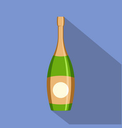 party champagne icon flat style vector image
