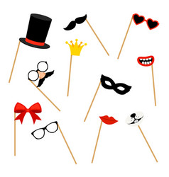 photo booth props vector image