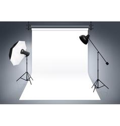 Photo studio background vector image