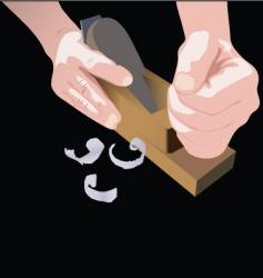 plane hands vector image