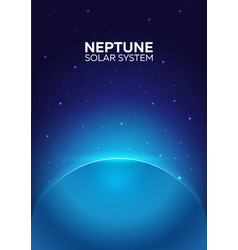 poster planet neptune and solar system space vector image