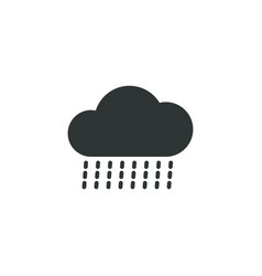 rainy cloud icon simple gardening element symbol vector image