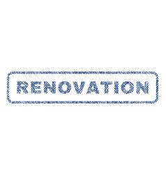 renovation textile stamp vector image