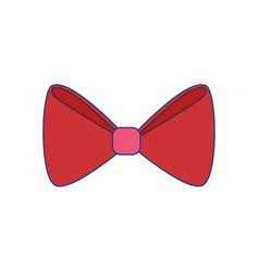 Ribbon cute decoration vector