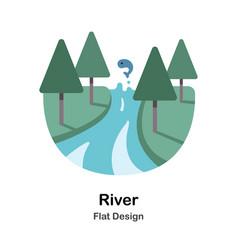 River flat vector