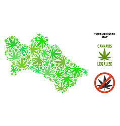 Royalty free cannabis leaves collage turkmenistan vector