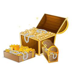 Set gold treasure vector