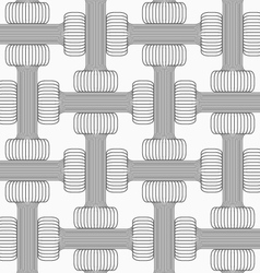 Shades of gray striped double T shapes vector