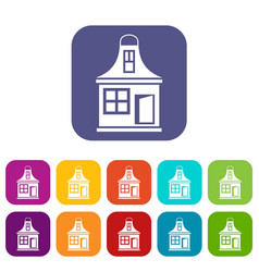 Small house icons set vector
