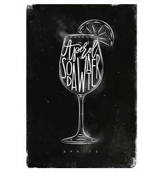Spritz cocktail chalk vector