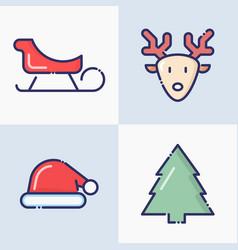 symbols christmas and new year celebration vector image