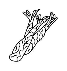 tempura icon doodle hand drawn or outline icon vector image