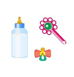 Things for the baby vector