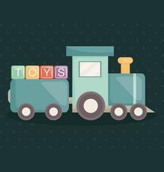 train with alphabet blocks toys vector image