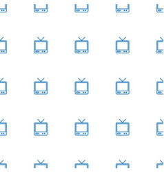 tv icon pattern seamless white background vector image