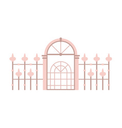 Victorian fence and gates icon vector