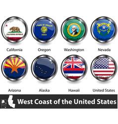 west coast united states vector image
