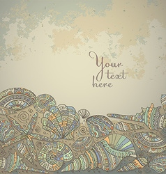 decorative background with beautiful seashells vector image