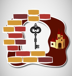 key to castle vector image vector image
