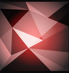 low poly design element on red gradient background vector image vector image