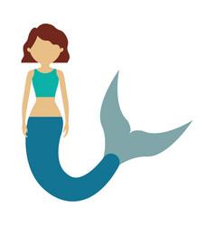 cute mermaid icon image vector image