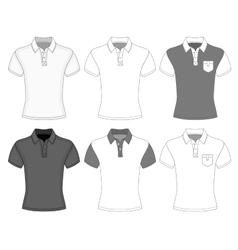 Mens short sleeve polo shirt vector image vector image