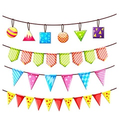 Party flags and other ornaments vector image vector image