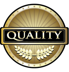 quality gold icon vector image vector image