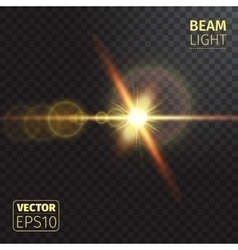 Realistic beam lights on transparent background vector image vector image
