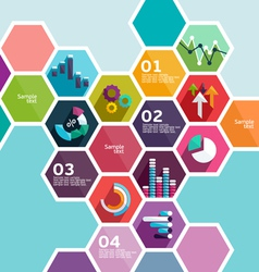 Set infographic elements vector image vector image