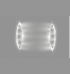 Circular lens flare transparent light effect vector