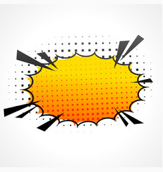 comic speed bubble vector image vector image