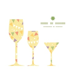 party decorations bunting three wine glasses vector image