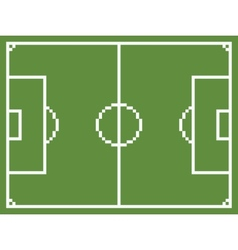 pixel art style football sport field soccer vector image