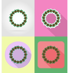christmas and new year flat icons 12 vector image vector image