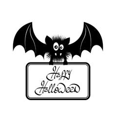 Happy Halloween Bat vector image