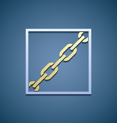 Icon chain Flat graphics vector image vector image