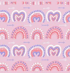 abstract modern boho rainbows seamless pattern vector image