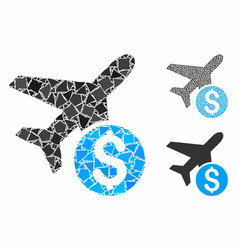 airplane price composition icon ragged items vector image