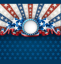american background with round frame vector image